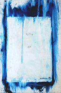 Oli, acrílic i esgrafiat sobre metacrilat transparent, 152x101 cm., 2019