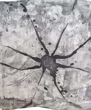 acquaragia, china e acquerello su carta, 70×100 cm., 2003