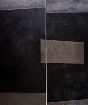 cera emulsionada sobre fusta, 105×150 cm., 2004
