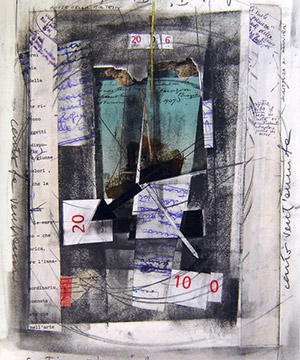 Collage, grafit i tinta sobre paper, 2006.