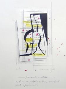 litografia, aquarel·la, tóner i grafit, 25x35 cm