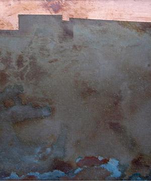 òxid sobre coure, 10×15 cm., 2005