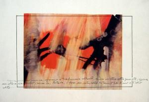 Collage, aiguarràs i tinta sobre paper, 2003.