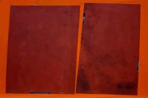 cera emulsionada sobre fusta, 80×125 cm., 2004