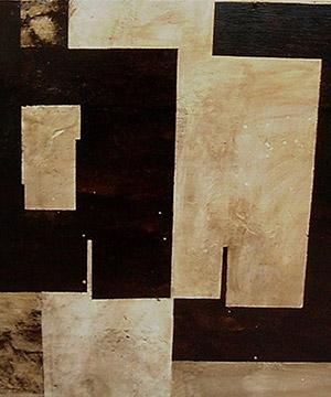 betún de Judea i aiguarràs sobre fusta, 70×100 cm., 2005