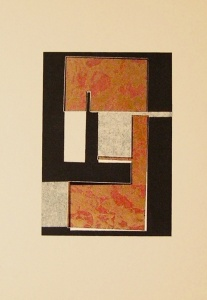 monotípia i collage sobre cartró, planxa 20×30 cm., 2004