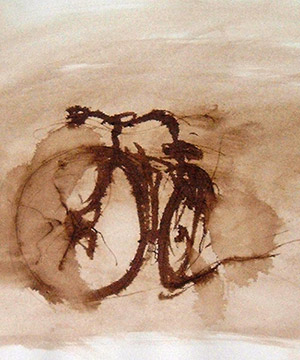 mordente noce su carta, 29.7×41 cm., 2001