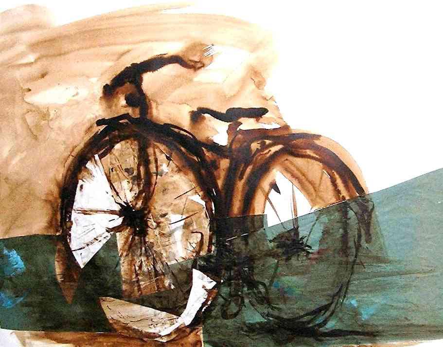 Verde con bicicletta