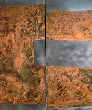 òxid sobre planxa metàl·lica, 100×162 cm., 2006