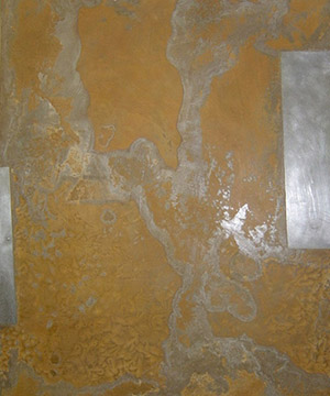 òxid sobre planxa metàl·lica, 40×50 cm., 2006