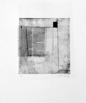 gravat i collage, planxa 20×32 cm., 2004