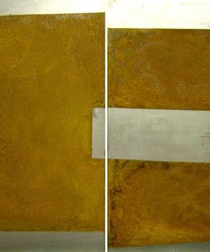 òxid sobre planxa metàl·lica, 50×70 cm, 2005