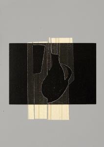 monotip i collage, 25x35 cm