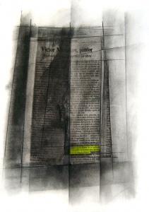 Collage, retolador fluorescent i grafit sobre paper, 2006