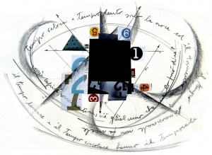 Collage i grafit sobre paper, Gener del 2006.