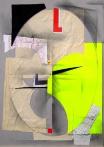 Collage, grafit i tinta sobre cartró, 2006.