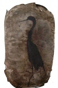 acquaragia, china e acquerello su carta, 41.8×29.7 cm., 2003