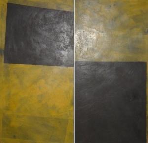 cera emulsionada sobre fusta, 96×99 cm., 2004