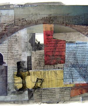 Collage, grafit i tinta sobre paper, Gener del 2006.