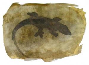 acquaragia, china e acquerello su carta, 29.7×41.8 cm., 2003