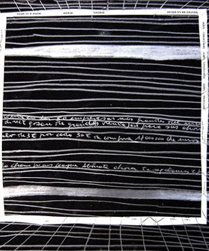 tremp de caseina, grafit i collage sobre paper, 35×50 cm., 2004