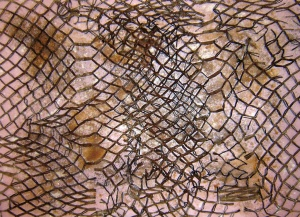 cartró, acrílic i òxid sobre fusta, 117×160 cm., 2007