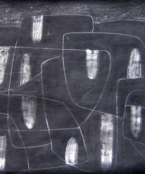 tremp de caseina i grafit sobre paper, 35×50 cm., 2004