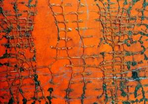 acrílic i malla plàstica sobre fusta, 70×100 cm., 2006