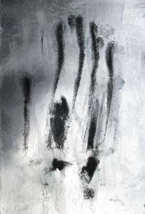 Don't Touch 4,  caseina i esmalt sobre cartró,, 37.5x26.5 cm., 2016