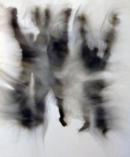 Fum sobre paper, 28x21, 2018