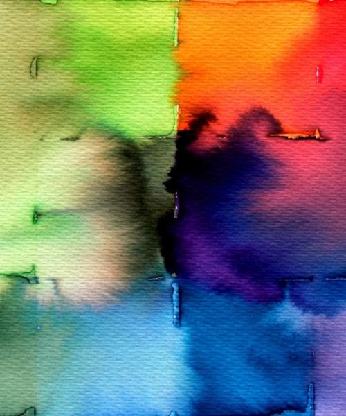 Targetons verds 2,  Aquarel•la sobre paper, 25x35 cm., 2013