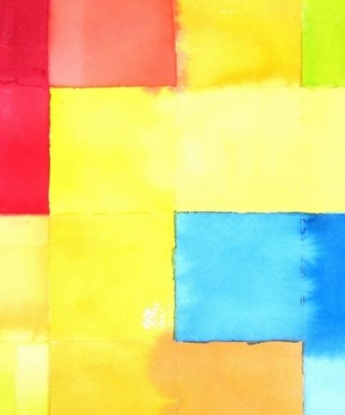 Targetons verds 1,  Aquarel•la sobre paper, 50x70 cm., 2014