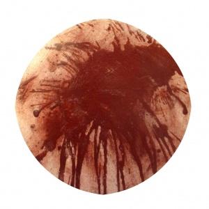 (Re) Pulsions 13, Pigment i aigua sobre cartró, diam. 35 cm.