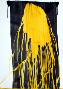 (Re) Pulsions 10, Esmalt i aigua sobre paper, 100x70 cm.