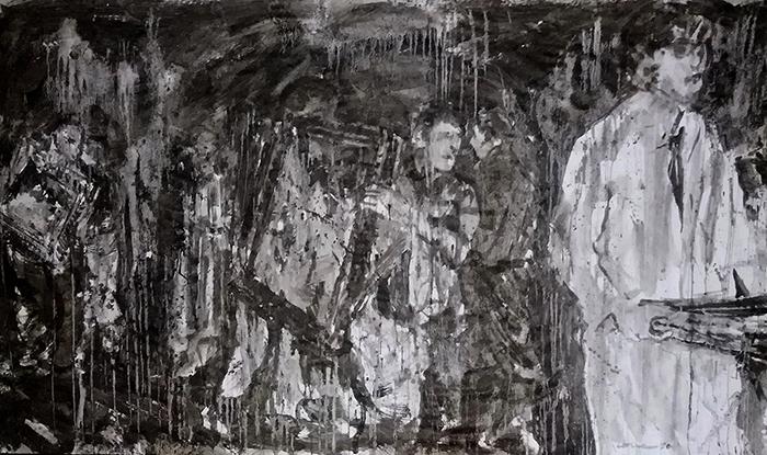 fang del temporal 'Glòria' sobre paper, 150x250 cm.