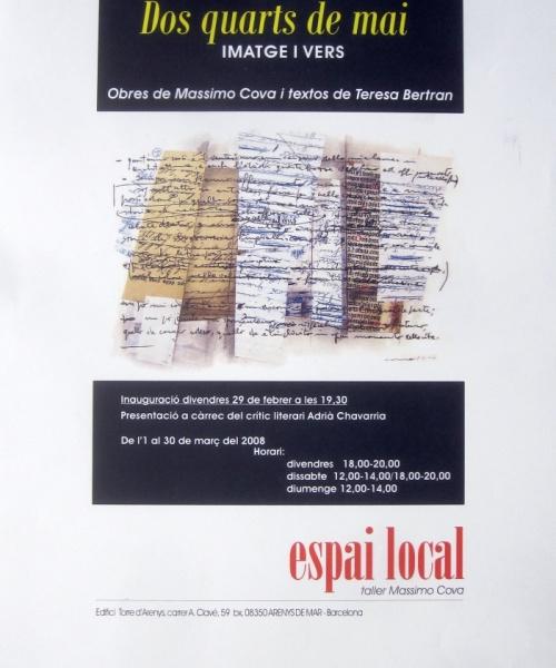 """""""DOS QUARTS DE MAI"""" – ARENYS DE MAR – 2008"""