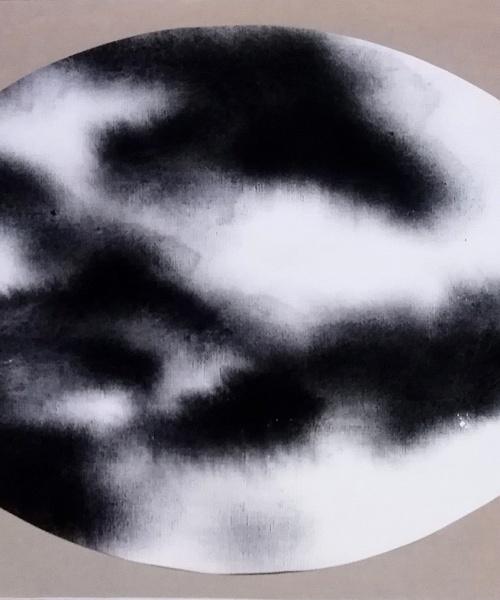 aigua de pluja i pigment sobre paper, 50x70 cm. / acqua di pioggia e pigmenti su carta, 50x70 cm.