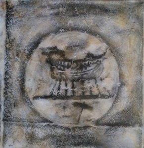acrílic,  grafit  i resina epoxi sobre paper, 100x100 cm. /  acrilico,  grafite  e resina epoxi su carta, 100x100 cm.