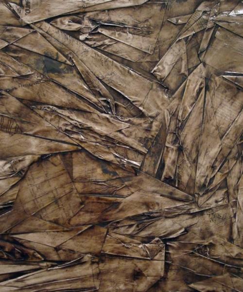 """""""Va' pensiero sull'ali dorate..."""", collage i pintura a l'oli sobre paper, 70x100 cm., 2009"""