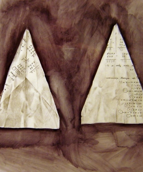 """""""Va' pensiero sull'ali dorate..."""", tinta xinesa i llàpis sobre paper, 35x50 cm., 2009"""
