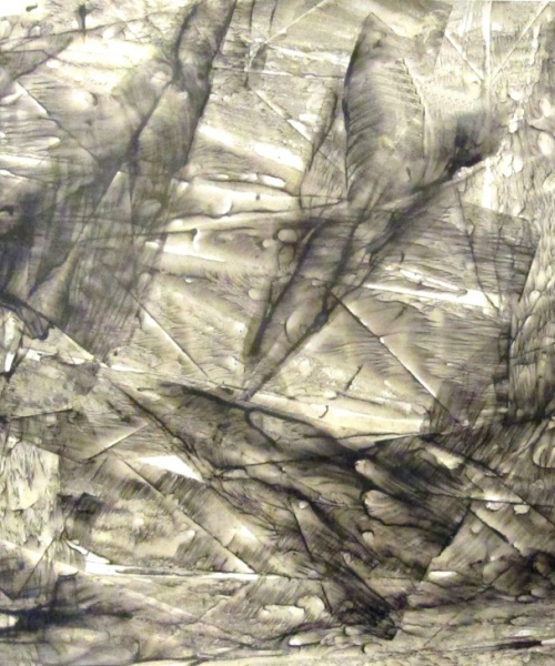 """Va' pensiero sull'ali dorate..."", tinta xinesa sobre paper, 50x70 cm., 2009"