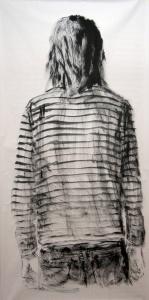 Esquenes eloqüents 2, tremp de cola sobre paper, 200×100 cm., 2010