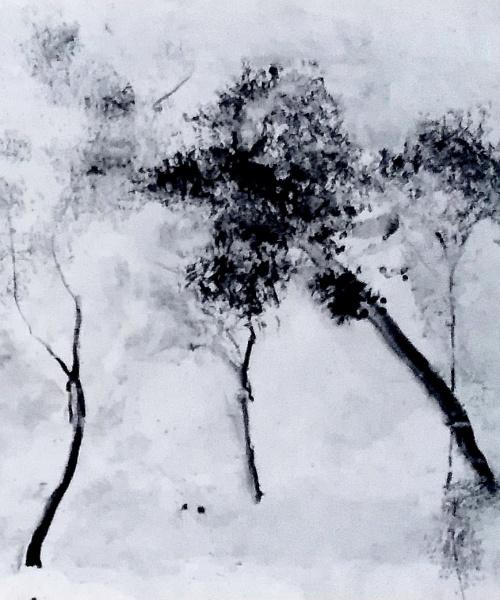CLAUDE LORRAIN'S (BURNED) TREES