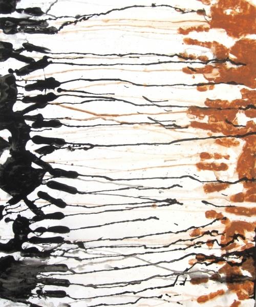 Tu i Jo, acrílic i fang sobre paper, 65×50 cm., 2010
