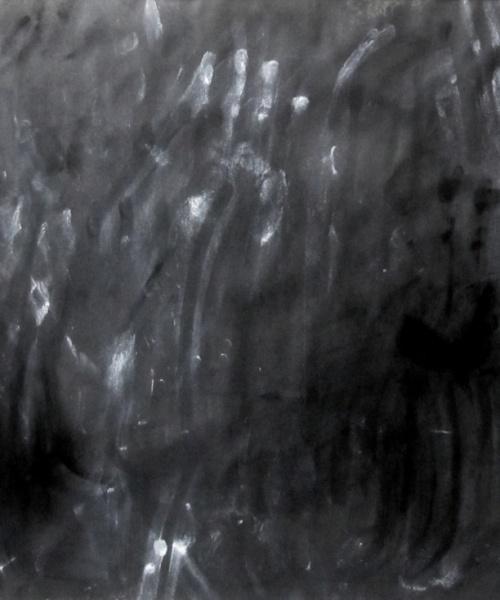 Protollenguatge 1, grafit i pigments sobre paper, 70×100 cm., 2012