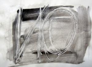 (Auto)afirmació 2, acrílic i tinta xinesa sobre paper, 21×29.7 cm., 2011