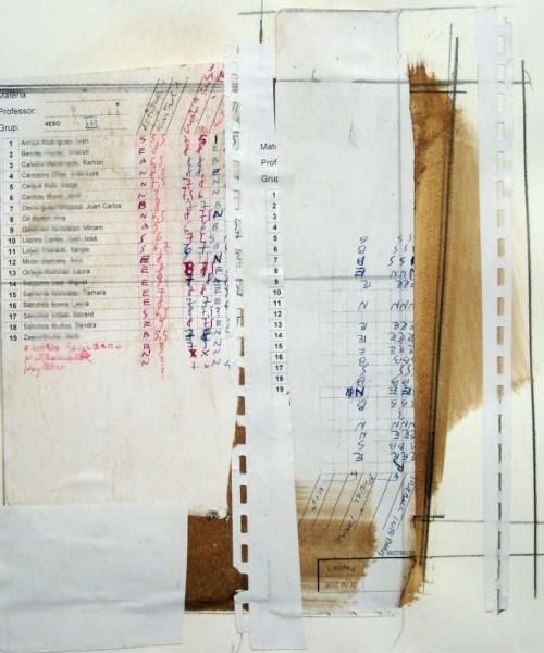 Judici Universal, Col•lage, llàpis, bolígrafs i nogalina sobre paper, 30×40 cm., 2007