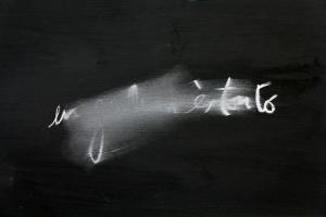 En… és tonto, acrílic i guix sobre paper, 50×70 cm., 2012