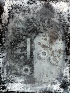 Post-Technology Daguerrotype, sèrie Il Futuro è già Passato, impressió digital de fotografia al daguerrotip, 12x9 cm., 2015.
