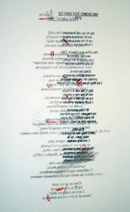 """""""Cada fracàs ensenya a l'èsser humà quelcom que necessitava aprendre"""" (Ch. Dickens) 3 (detall), grafit, tóner i acrílic sobre paper, 60×85 cm., 2009"""